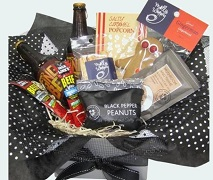 Man Gift Box for Male including Sweet and Savoury Snacks. Free Gift Basket Delivery North Shore Auckland Wide.