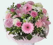 large mothers day bouquet in pinks and whites free delivery auckland
